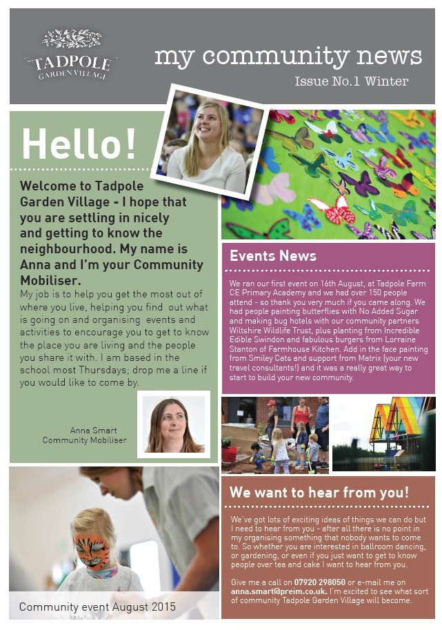 Tadpole Garden Village newsletter