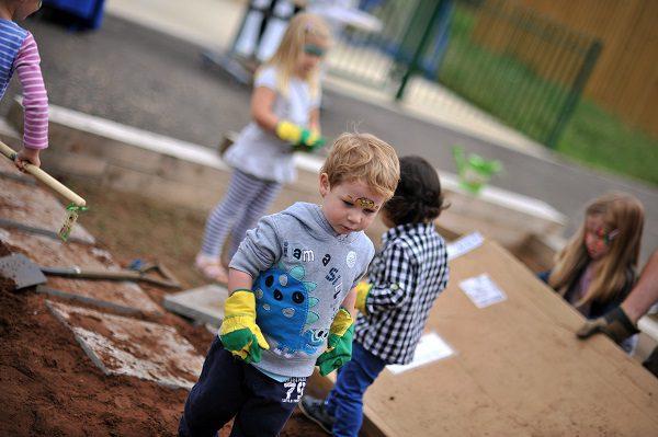 Creating a sensory garden at tadpole Academy